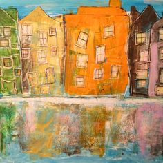 Acrylic, I like the windows, they are alive.