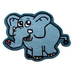 #Tappeto bimbi in lana 100 x 075 dis elefante  ad Euro 23.50 in #Sinsin #Casa e arredo > decoro