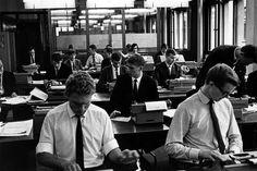 Kontor, 1965. En digital revolution har siden effektiviseret kontorarbejdet gevaldigt. Men langt mere arbejde indenfor regnskab, lønbehandling, bogføring og mange andre jobfunktioner vil stadig forsvinde.
