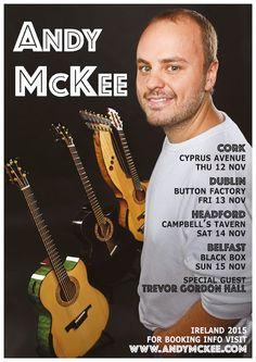 Thurs 12 Nov @ Cyprus Avenue / Fri 13 Nov @ Button Factory - Andy McKee Button Factory, Black Box, Belfast, Special Guest, Cyprus, Dublin, Ireland, Poster, Irish