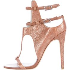 Pre-owned Camilla Skovgaard Burnished Cutout Sandals ($145) ❤ liked on Polyvore featuring shoes, sandals, pink, pink leather sandals, genuine leather shoes, burnished leather shoes, buckle shoes and cut out sandals