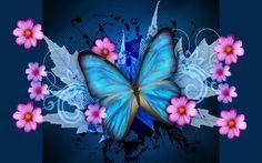 Download Blue Butterfly Galaxy Wallpaper 1280x800 | Full HD Wallpapers