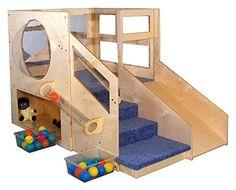 Mainstream Infant Toddler Loft w 2-Storage Units - Adventurer (Blue)