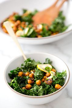 TOASTED KALE AND PAN FRIED CHICKPEA SALAD - a house in the hills - interiors, style, food, and dogs