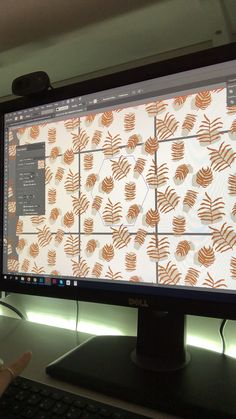 My process of working on a new set of tropical seamless #vector #patterns with #adobeillustrator