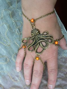 Bijoux de main *Collection Ma Bohême, Octopussy*. : Bracelet par dys