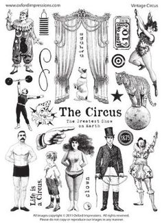 Oxford Impressions, Stamps for Graphic 45 Le Cirque mini album