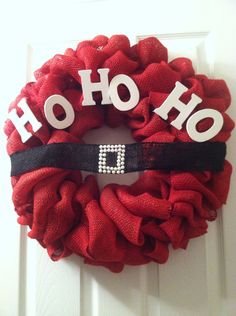 XL Santa Clause Wreath 23  Shabby Chic by FromTheCoast2TheCity, $60.00