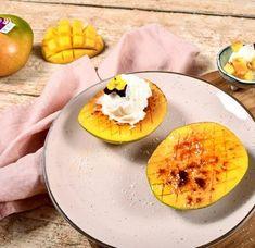 Grilled mango barbecue. Bbq dessert