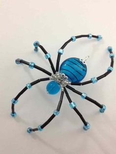 Beaded Spiders on Pinterest | Spiders, Beads and Halloween Jewelry