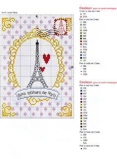 I probably wouldn't do Paris. Easy enough to flip the top of this frame over and fill the center with something else! Cross Stitch Quotes, Cross Stitch Heart, Cross Stitch Cards, Cross Stitching, Cross Stitch Embroidery, Blackwork, Cross Stitch Designs, Cross Stitch Patterns, Le Point