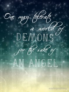 """""""One may tolerate a world of demons for the sake of an angel"""" this quote from Doctor Who always reminded me of Destiel tbh :) I mean, angels? demons? totally a dean and cas thing.  Available as T-Shirts & Hoodies, iPhone Cases, Samsung Galaxy Cases, Home Decors, Tote Bags, Prints, Kids Clothes, iPad Cases, and Laptop Skins"""