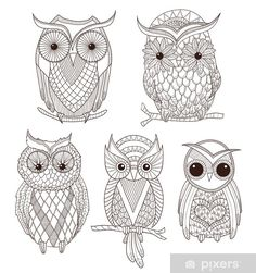 Golden Owls Tattoos Owl Embroidery Tattoo Designs