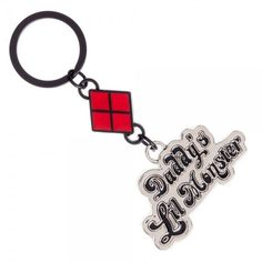 Suicide Squad Harley Quinn Daddy's Lil Monster Metal Keychain Ring DC Comics NEW #Bioworld
