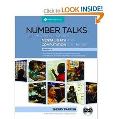 Number Talks to get students thinking about number.