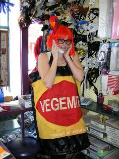 Vegemite Costume for Australia Day. Available in Medium, Large and Extra Large