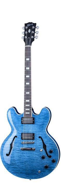Gibson.com: Gibson Memphis ES-335 Figured Indigo Blue