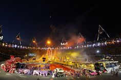 A general view during the Olympic Games Closing Ceremony at the Olympic Stadium, London. (© PA Wire Press Association Images)