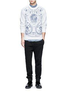 ALEXANDER MCQUEEN - Chambray cotton shirt | Blue and Green Casual Shirts Shirts | Menswear | Lane Crawford - Shop Designer Brands Online