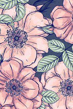 Plant Wallpaper, Fall Wallpaper, Custom Wallpaper, Wallpaper Backgrounds, Iphone Wallpaper, Flower Frame, Flower Art, 3d Poster, Hippie Wallpaper