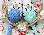 £2.56 budgies knitting pattern budgerigar  PDF email toy budgie bird -makes me think of my NANA and her parakeets!!