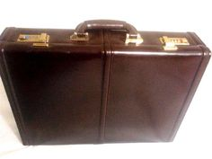 Monarch Hardside Top Grain Leather Briefcase , Dark Burgundy #MonarchLuggage #BriefcaseAttache