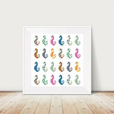 Sea Horse Cross Stitch Pattern PDF Instant Download