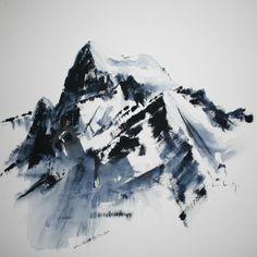 4 102, Céline Lorentz Celine, Cool Tattoos, Art Ideas, Tattoo Designs, Mountain, Sketches, Paintings, Illustrations, Watercolor