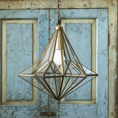 A very striking glass and brass lantern is  Connie.  Meticulously made, this gorgeous star shape works fantastically in hallways or as a centrepiece.