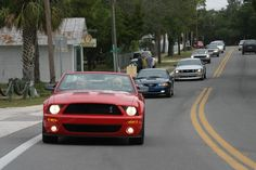 Ford Mustang enthusiasts are invited to cross the US in the largest caravan of Mustangs in history, and join the official 50th anniversary festivities that will celebrate Mustang past, present and future. Cars from every decade are being summoned to Norman, OK on April 13, 2014 where they can join either the herd headed to Charlotte Motor Speedway or Las Vegas Motor Speedway.