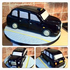 A four layer sponge with vanilla cream black cab cake! Black Cab, Cake Stuff, Vanilla Cream, 40th Birthday, Taxi, Cake Ideas, Biscuits, Cake Decorating, Projects To Try