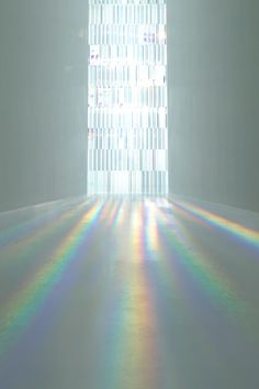Rainbow Church installation by Tokujin Yoshioka for the Museum of Contemporary Art in Tokyo, Japan. Interaktives Design, Light And Space, Museum Of Contemporary Art, Light And Shadow, Retail Design, Sculpture Art, Lighting Sculpture, Metal Sculptures, Abstract Sculpture