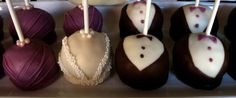 Custom wedding party cake pops from www.thatssojenn.com