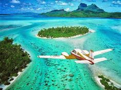 You must have heard about Bora Bora. It is arguably the most beautiful island on earth. It is a coral island in the Pacific Ocean and a place to spend your next holiday on. Find out about Bora Bora. Dream Vacations, Vacation Spots, Places To Travel, Places To See, Tourist Places, Bora Bora French Polynesia, Bora Bora Island, Beach Please, Tropical Beaches