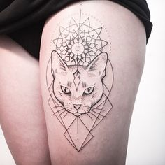 coolTop Geometric Tattoo - ANOTHER CAT FROM A FEW DAYS AGO. ➖️RESPECT, DON'T COPY!➖ FOLLOW MY STU...