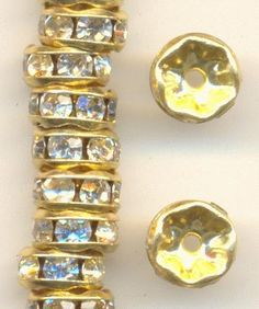Rhinestone rondelles! On sale this week! http://www.jansjewels.com/jewelry-supplies/featured-items-1.html