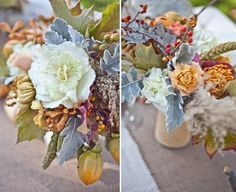 gray pumpkins centerpiece | Mustard and gray wedding | Matrimonio autunnale grigio, senape e arancionehttp://theproposalwedding.blogspot.it/ #autumn #autunno #fall #wedding #matrimonio