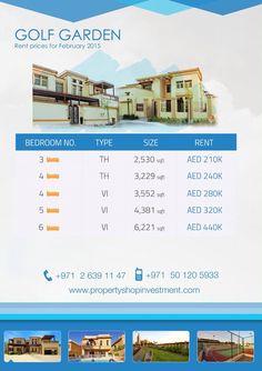 Starting prices for January in Golf Gardens, Abu-Dhabi !  #AbuDhabi #startingprices #LovePsi