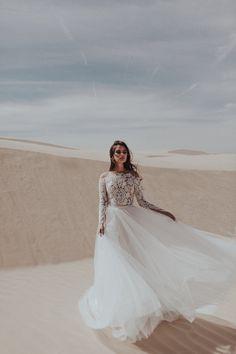 Sarah Seven. Wedding dress separates.  off the shoulder wedding gown. wedding gown.  wedding dress. tulle wedding dress. romantic wedding dress.