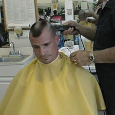 Short horseshoe style flattop in progress Cool Haircuts, Hairstyles Haircuts, Haircuts For Men, Military Haircuts, Haircut Men, Haircut Styles, Short Hair Cuts, Short Hair Styles, Bald Men Style