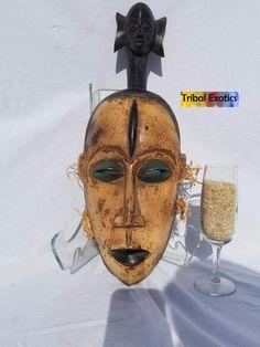 WAS $1,125 - Tribal African Art Guro Superstructure Mask Figure Sculpture Statue
