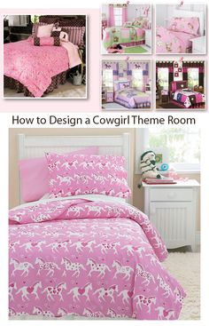 Girls Bedrooms: Design Ideas: Article on how to design a western cowgirl bedroom
