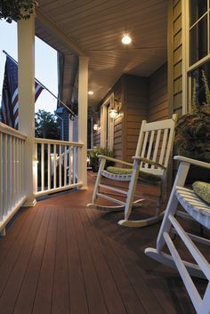 Azek Porch From Our Arbor Collection In Morado With S Premier Rail Materials