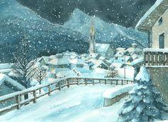 Stille Nacht Autore: Nancy Walker-Guye  Illustrazioni: Alessandra Micheletti  Aracari Verlag  CH  Anno: 2011 -   Watercolor
