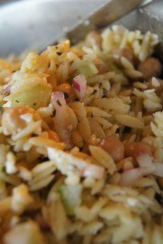 FooDabbler - orzo feta garlic salad