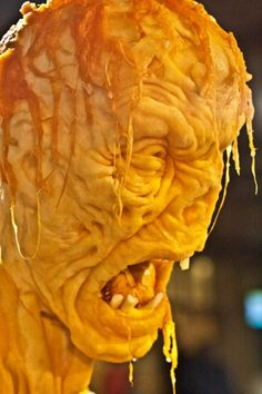 Really a zombie made out of pumpkin so cool