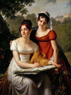 Jacques-Augustin-Catherine Pajou (1766-1828) —  Mesdemoiselles Adèle  and  Jenny-Malvina  Duval   :  Musée du Louvre,  Paris. France (762×1024)