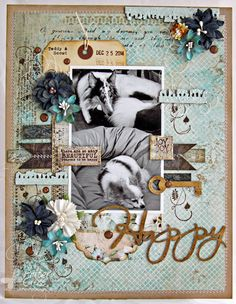 8 1/2 x 11 layout by Patter Cross using the Blue Fern Studios January 2015 sketch, new Sanctuary papers, and chipboard.