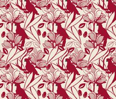 Cockatoo Jester Red fabric by leeandallandesign on Spoonflower - custom fabric