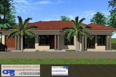 Free House Plans, Best House Plans, Home Design Floor Plans, House Floor Plans, Exterior Paint Colors, Paint Colours, Tuscan House Plans, African House, Site Plans